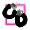 Металлические наручники с черной опушкой и ключиком в городе Феодосия