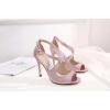 Розовые туфли Jimmy Choo на высоком каблуке с глиттером